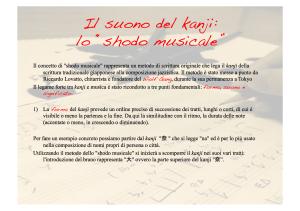 Presentazione musical shodo1